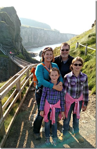 Across the Carrick a Rede Rope Bridge, County Antrim