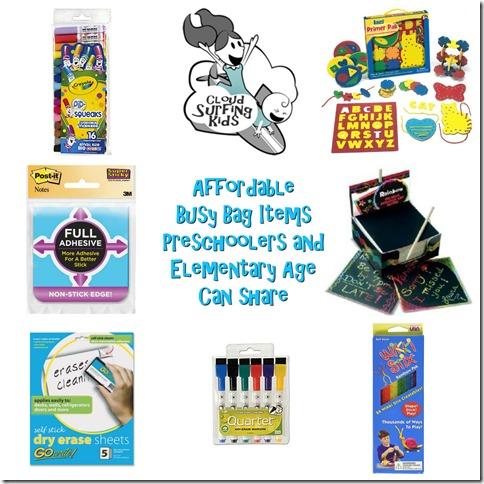 Busy Bag Preschool Elementary