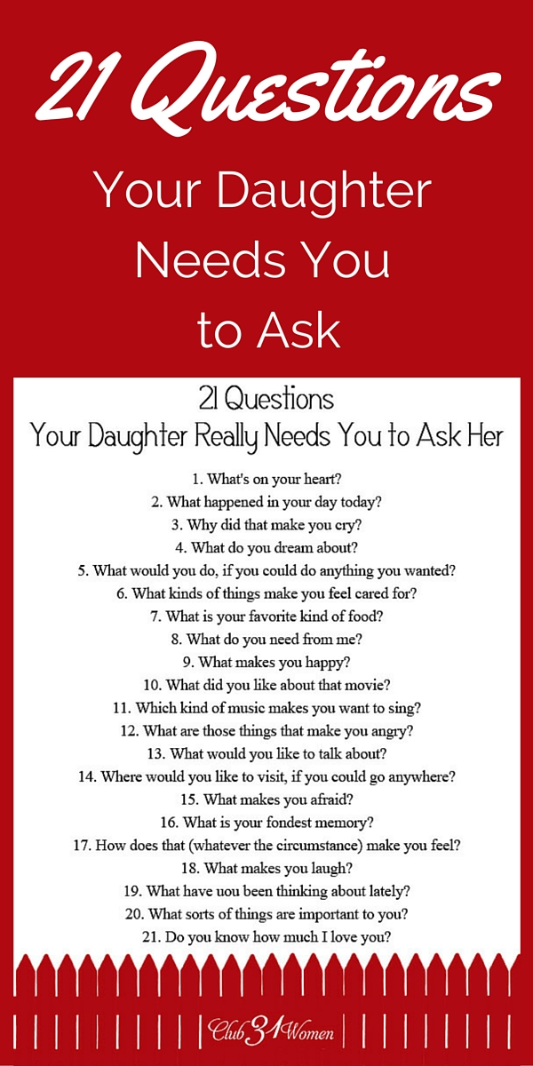 what to ask your girlfriend in 21 questions