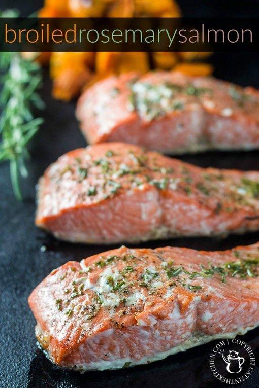 Rosemary Salmon by catzinthekitchen