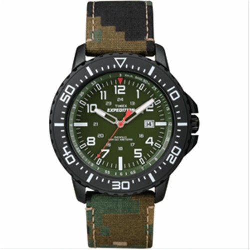 Timex Men's Expedition Uplander Watch with Camo Nylon Band