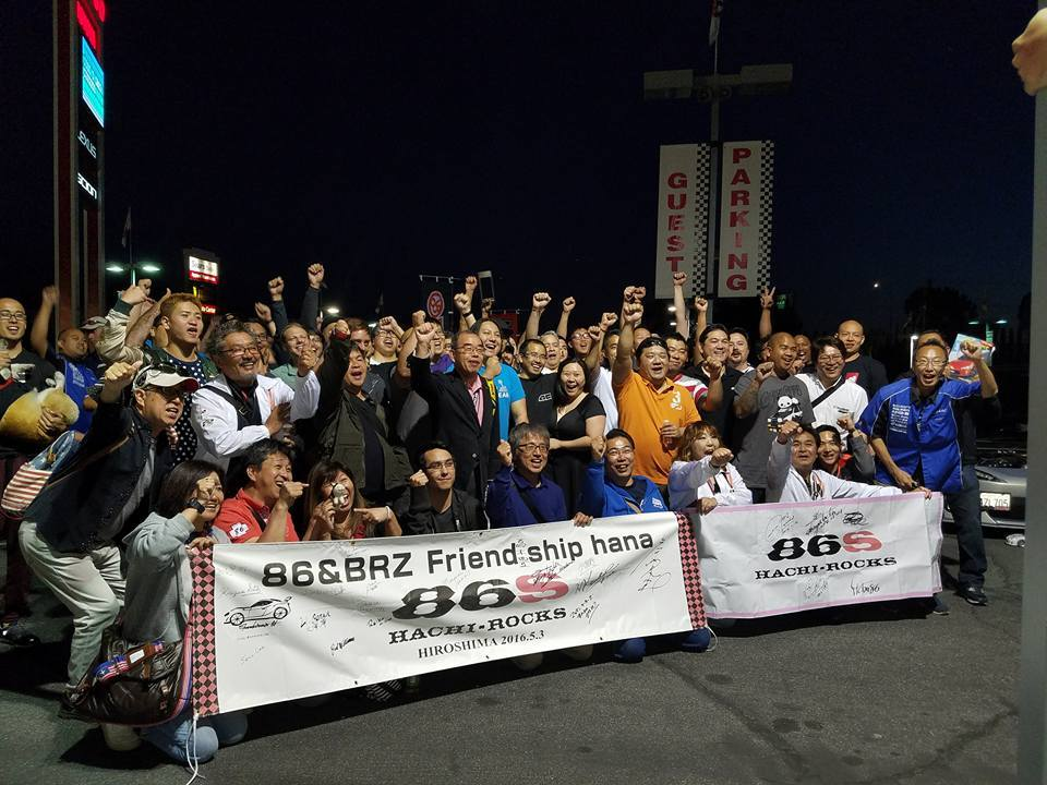The energy of 86 Fans in the West Coast USA