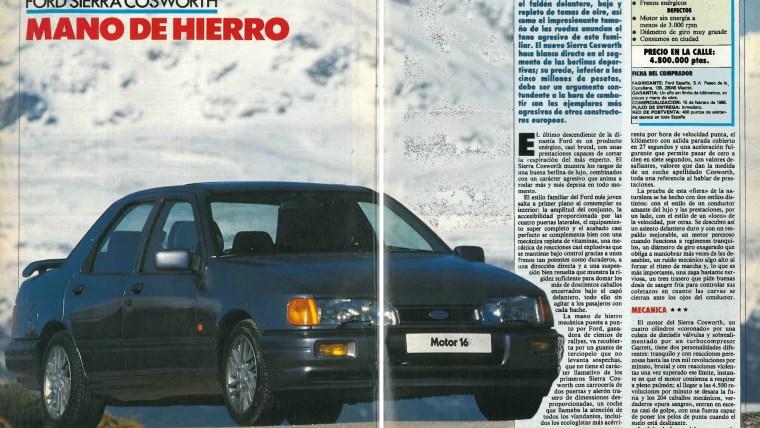Prueba Ford Sierra Cosworth