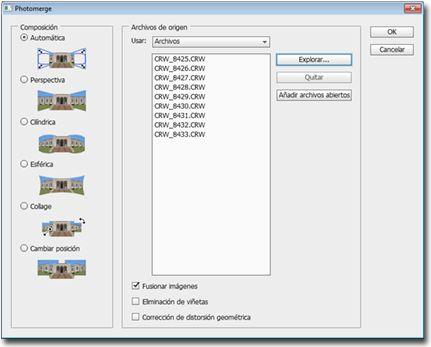 Como crear panoramicas con photomerge Photomerge