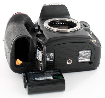 Duración de la batería de la Nikon D800