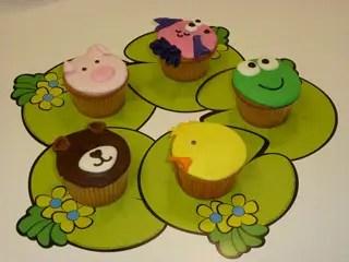 cupcakes decorados como animales