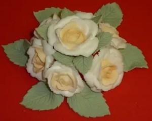 Rosas de royal icing