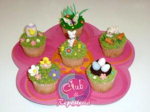 Cupcakes decorados para Easter - Club de Reposteria