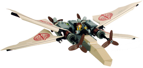 IMAGE: Steampunk X-Wing by Brickshelf's Jerrec