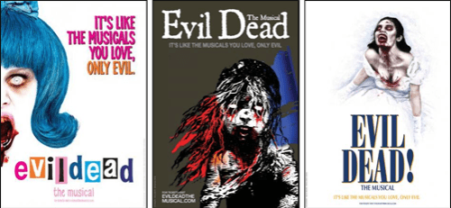 Evil Dead Broadway parody posters