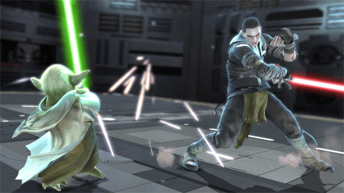 Yoda vs Starkiller in Soul Calibur IV