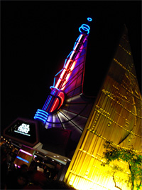 Star Tours at night by Loren Javier @ Flickr