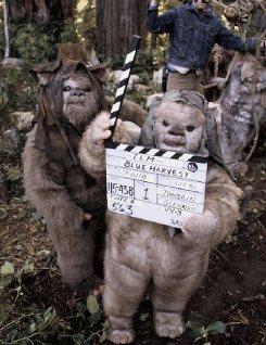Ewoks behind the scenes