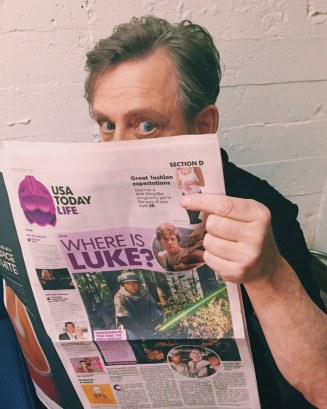 Today on Twitter: @HamillHimself is such a troll. (USA Today asked the cast.)