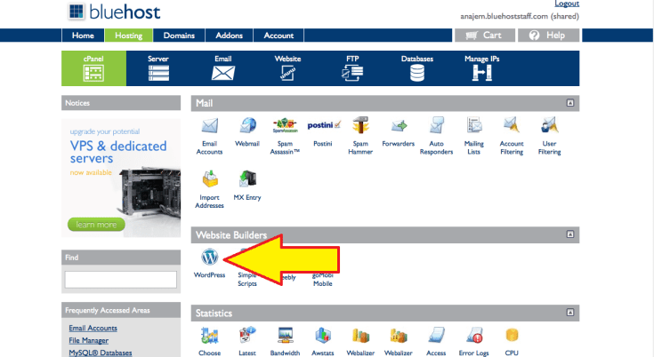 Bluehost Cpanel 2