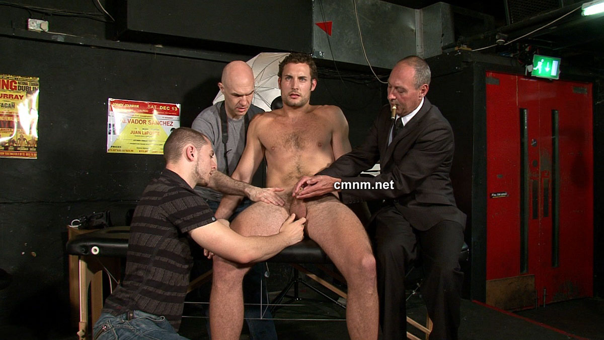 image Two pervy dudes restrain and tickle sexy jock christian w