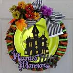 DIY Dollar Store Halloween Wreath