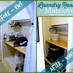 Easy & Frugal Laundry Room Makeover