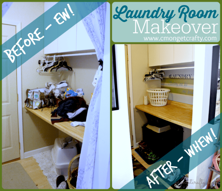Quick and Frugal Laundry Room Makeover - so simple but effective!