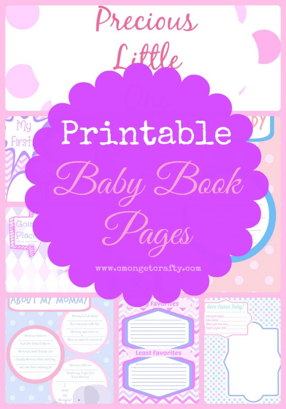 Memory Book Cover Printable ~ Printable baby book pages girl