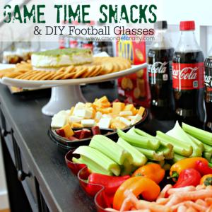 Game Time Snacks & DIY Football Glass Tutorial