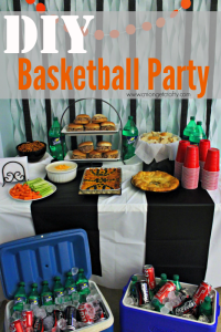DIY Basketball Party & Coca-Cola Pulled Pork Sliders