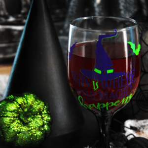 Witches Magic Halloween Wine Glass Tutorial