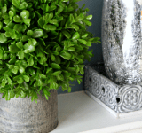 Styling a Fresh Winter Mantel After Christmas