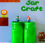 Super Mario Party Mason Jar Craft