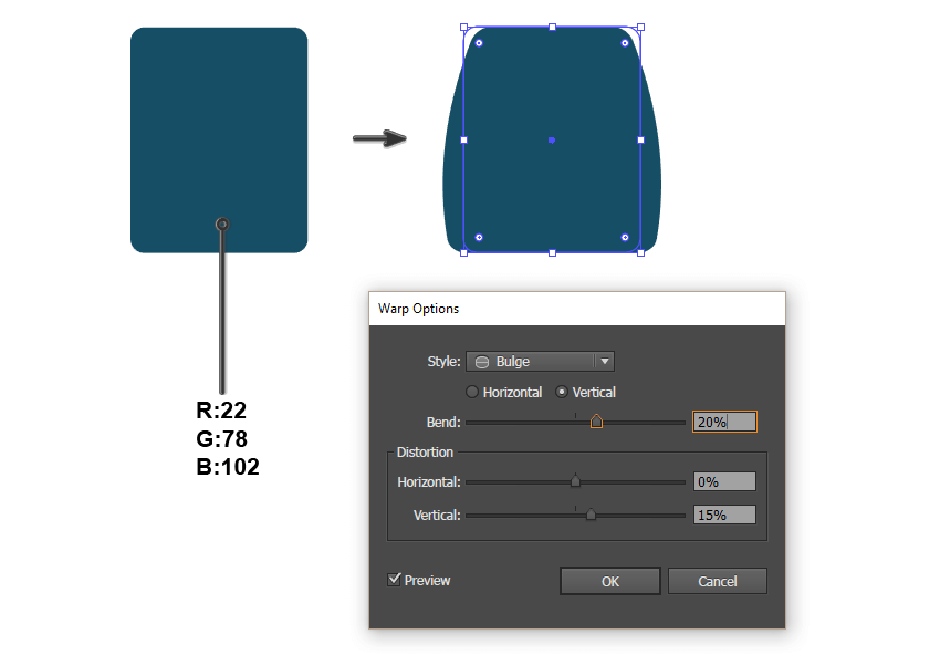 creating the backpack base