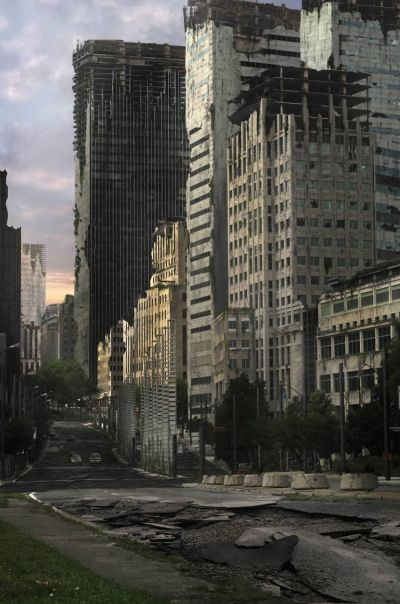 Create an Apocalyptic City Street in Photoshop