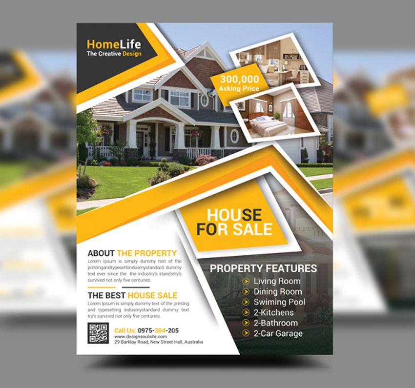 40 Professional Real Estate Flyer Templates   Healthcare Web Design ...