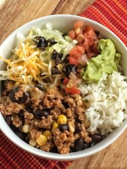 First Turkey Taco Burrito Bowls Laura S Copy Me That Ground Turkey Tacos Weight Watchers Ground Turkey Tacos Martha Stewart