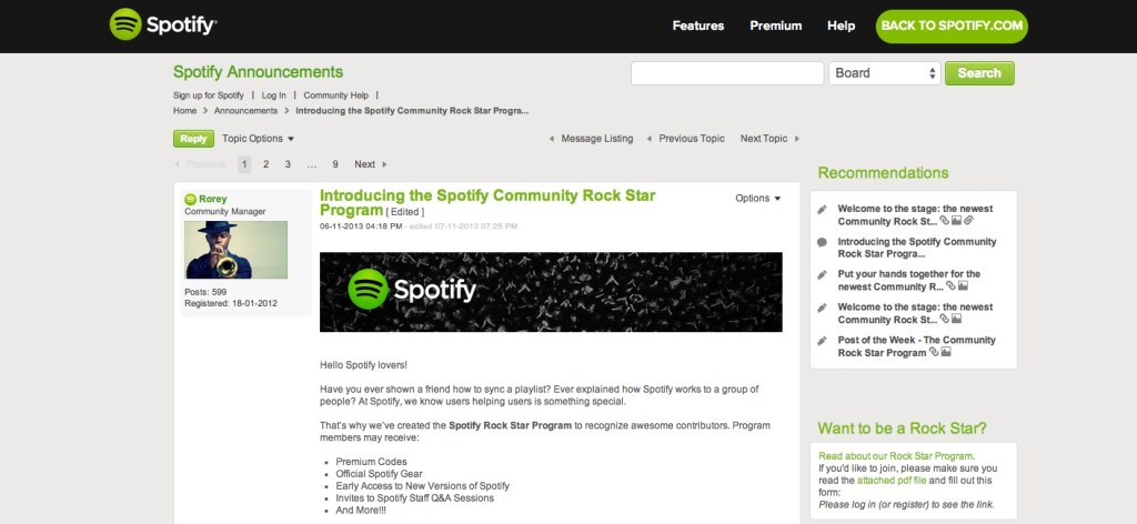 spotify uses lithium