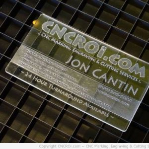 acrylic Acrylic Business Cards (30 pack)