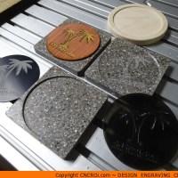 Custom Corian Coasters with Custom Various Inserts