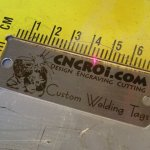 "custom-welding-tag-x3-1 50 x Annealed Stainless Steel Tags (25 x 76 mm or 1 x 3"")"