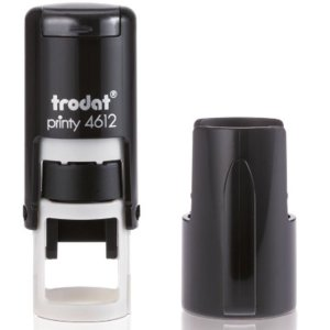 "trodat-4612 Trodat Original Printy 4612 Custom Self-Inking Stamp (12 mm or 1/2"" round)"