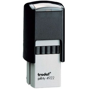 "trodat-4922 Trodat Original Printy 4922 Custom Self-Inking Stamp (20 mm or 1-3/16"" square)"