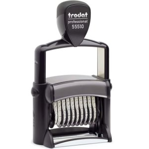 "trodat-55510 Trodat Professional 55510/PL Custom Self-Inking Stamp (33 x 56 mm or 1-5/16 x 2-1/4"" with numberer)"