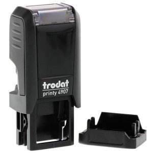 "trodat-printy-original-4907-1 Trodat Original Printy 4907 Custom Self-Inking Stamp (6 x 13 mm or 0.2 x 0.5"")"