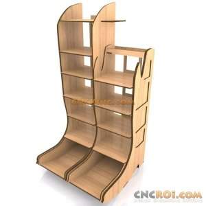 cnc-laser-boot-holderx Bootilicious Shelves