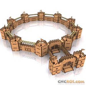 medieval-castle-walls-cnc-laser-kit-1 Medieval Castle Walls B