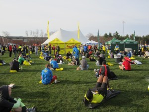 Athlete's Village, early and before it became crowded.
