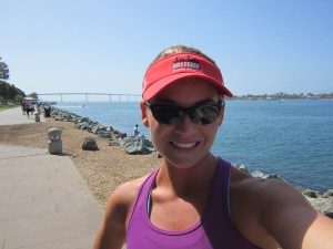 On a run at the San Diego Marina.