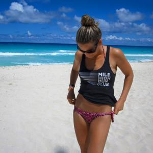 Representing MHRC on the beach in Canucun - where I didn't run once!
