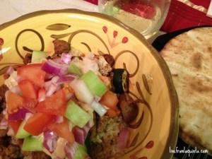 Roasted Seitan and Vegetables with Quinoa. #Vegan Recipe