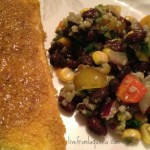 Cornmeal Crusted Tofu. Black Bean and Quinoa Salad. 2 Vegan Recipes