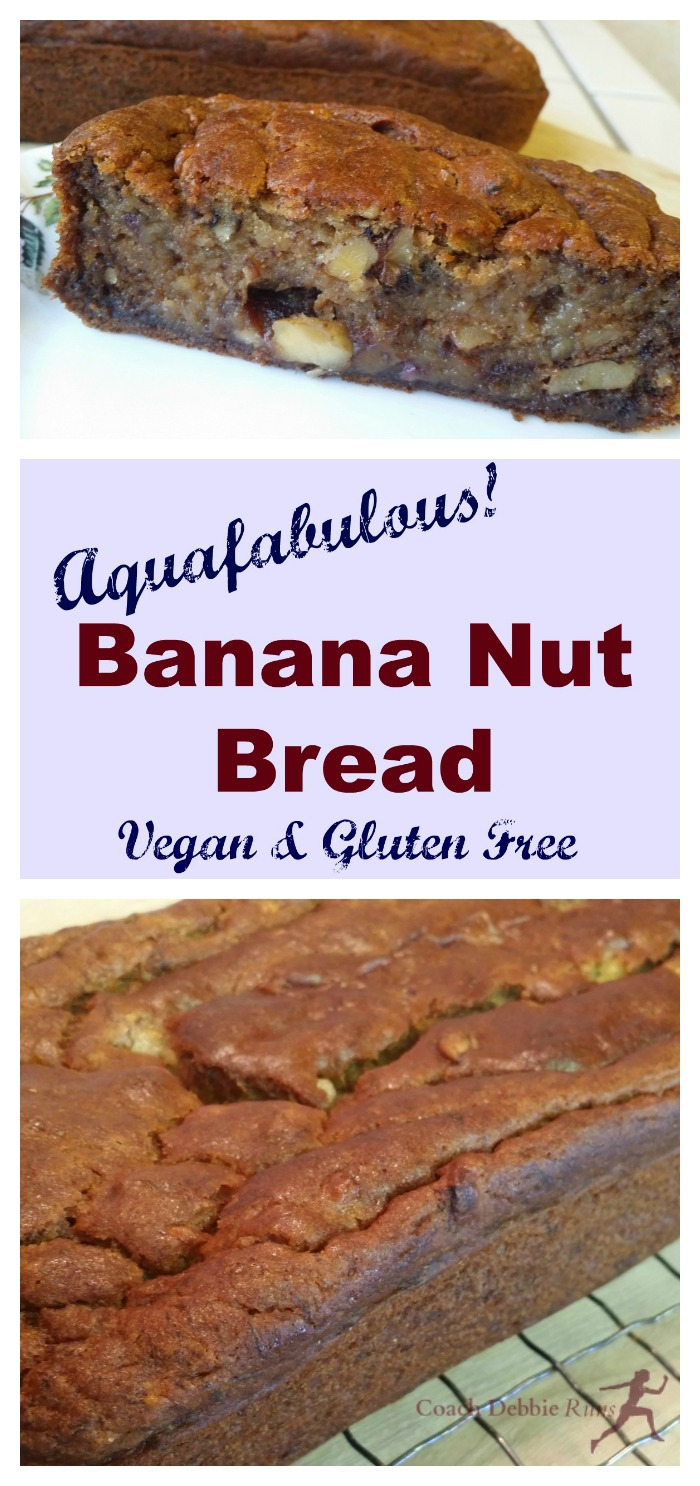 Vegan and gluten free banana walnut bread