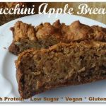 Vegan Zucchini Apple Bread. Gluten Free